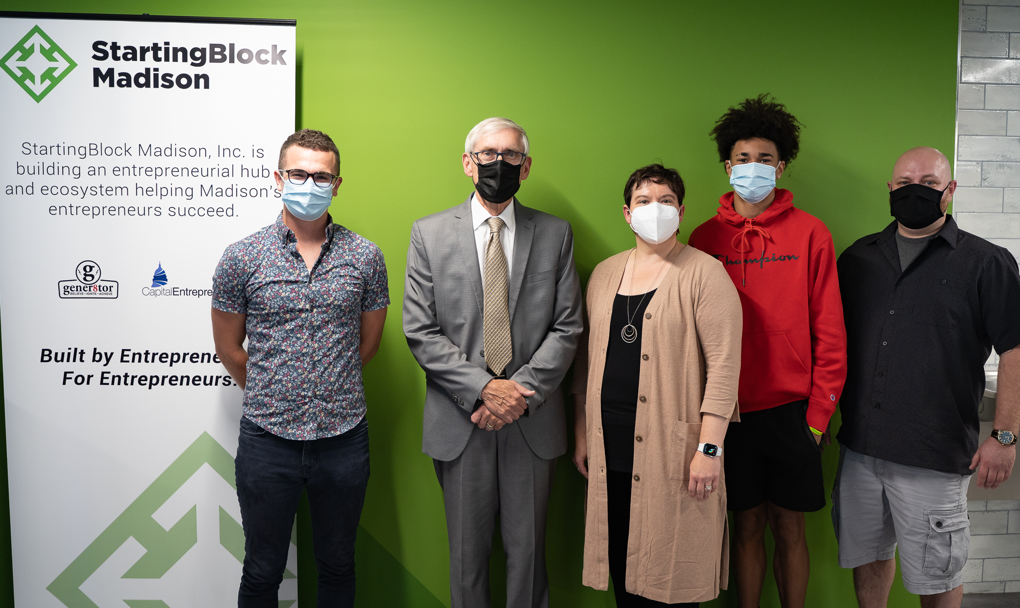 The StartingBlock Team with Governor Evers